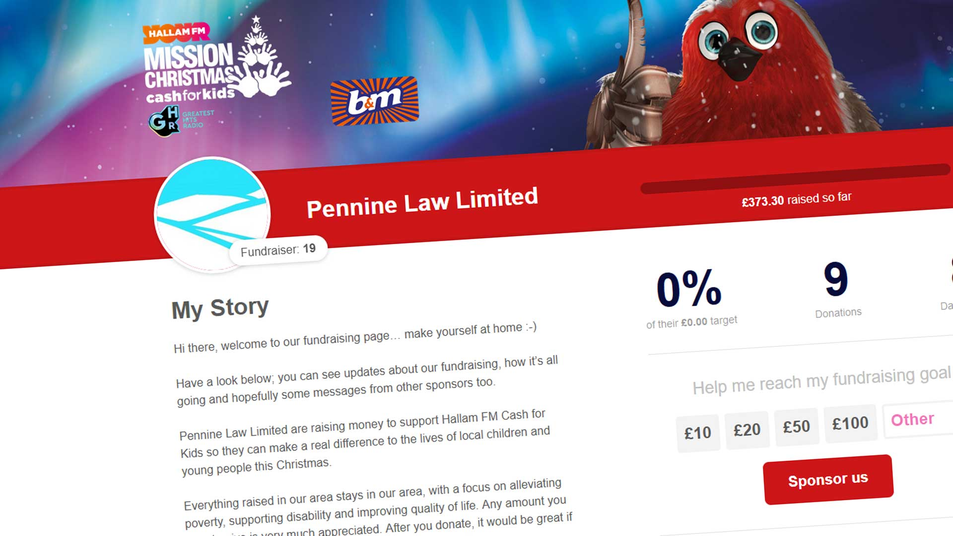 Pennine Law - Cash for Kids Mission Christmas